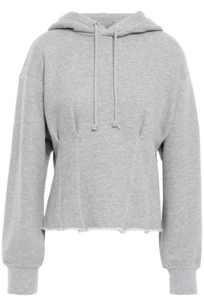 CURRENT/ELLIOTT The Pintuck French cotton-terry hoodie