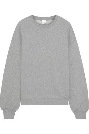 IRIS & INK Rannow mélange French cotton-terry sweatshirt