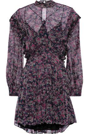 IRO Tinkle pleated printed georgette mini dress