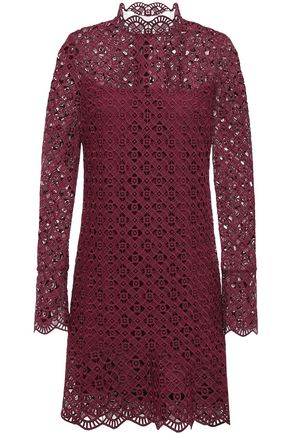 SANDRO Scalloped guipure lace mini dress