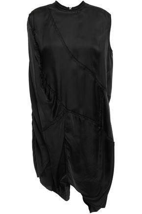 RICK OWENS Asymmetric draped twill tunic