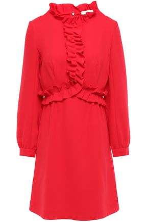 SANDRO Artifice ruffled crepe mini dress