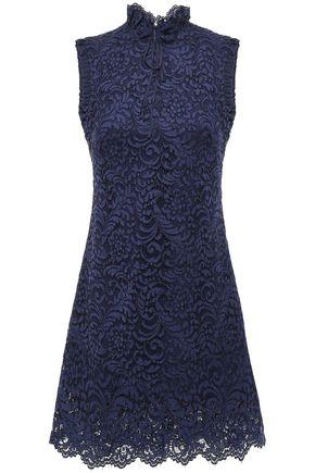 SANDRO Scalloped corded lace mini dress