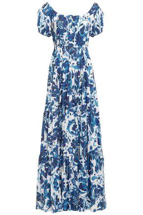 CAROLINE CONSTAS Stretch-cotton poplin maxi dress