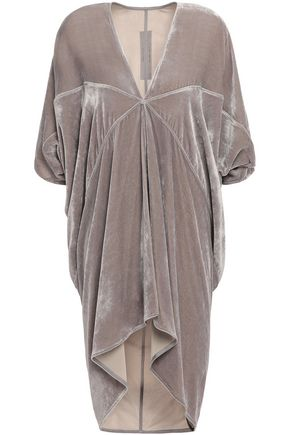 RICK OWENS Kite draped velvet blouse