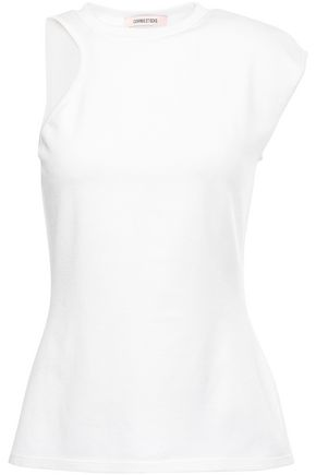 CUSHNIE Stretch-knit top