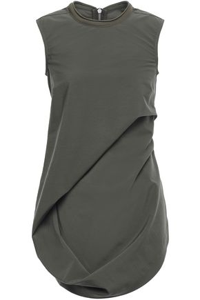 RICK OWENS Draped stretch-wool top