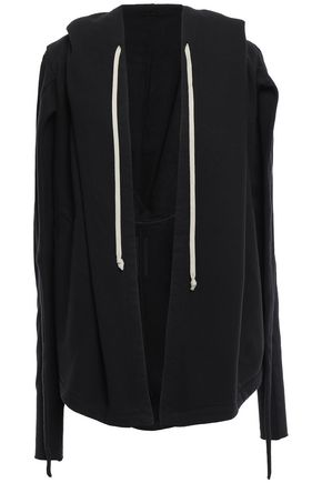DRKSHDW by RICK OWENS Draped cotton-fleece sweatshirt