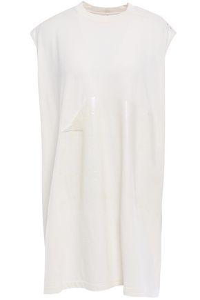 RICK OWENS Paneled coated cotton tunic
