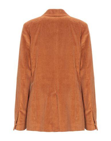 Фото 2 - Женский пиджак  ржаво-коричневого цвета