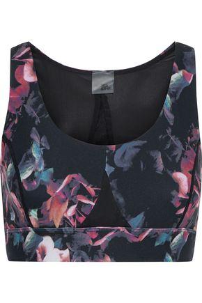 IRIS & INK Floral-print stretch sports bra