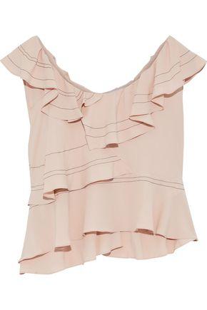 IRO Ruffled crepe de chine blouse