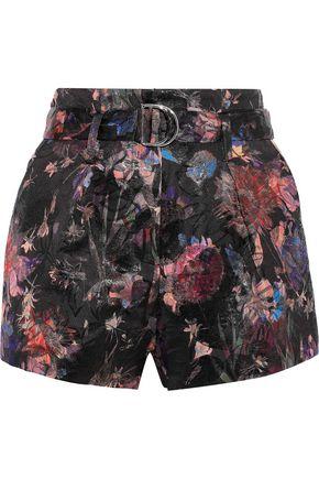 IRO Belted brocade shorts