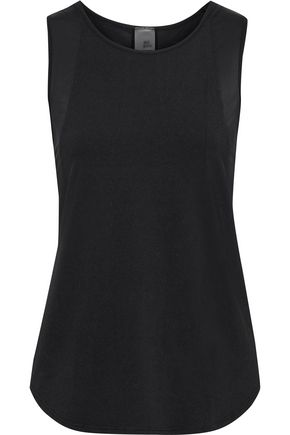 IRIS & INK Sateen-paneled stretch-jersey tank