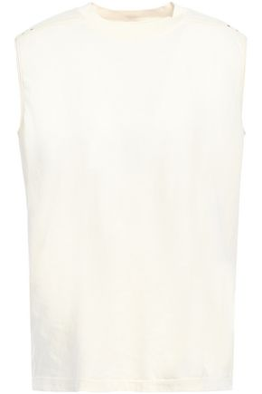 RICK OWENS Studded coated cotton-jersey top