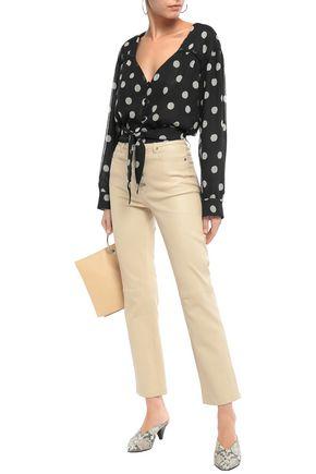 NANUSHKA Amulet polka-dot crinkled-georgette blouse