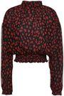 NANUSHKA Amara leopard-print crinkled-georgette blouse