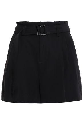 VINCE. Belted crepe shorts