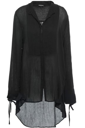 ANN DEMEULEMEESTER Pintucked cotton-crepon tunic