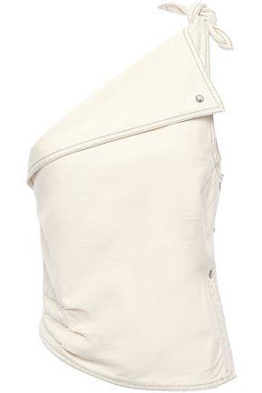 NANUSHKA One-shoulder asymmetric denim top