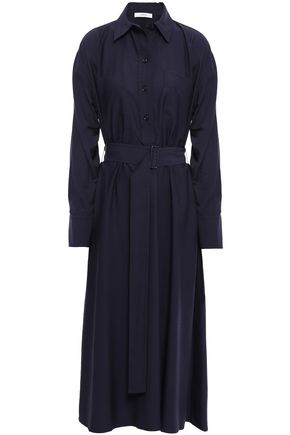VINCE. Twill midi shirt dress