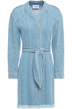 NANUSHKA Iris belted denim mini dress