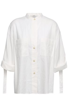 VINCE. Cotton and silk-blend blouse
