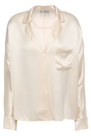 VINCE. Silk-satin shirt