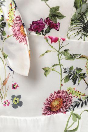 BAILEY 44 Knotted floral-print satin-twill midi dress