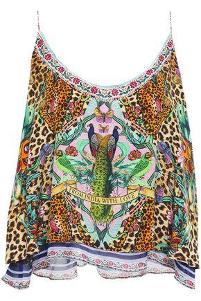 CAMILLA The Jungle Book layered printed silk-chiffon and crepe de chine camisole