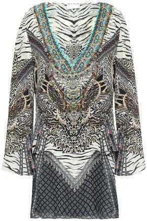 CAMILLA The Bodyguard layered printed silk crepe de chine and chiffon tunic