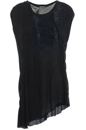 ANN DEMEULEMEESTER Asymmetric cotton and cashmere-blend jersey T-shirt