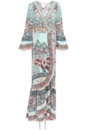 CAMILLA シルク マキシラップドレス