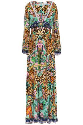 CAMILLA The Jungle Book crystal-embellished printed silk crepe de chine maxi dress