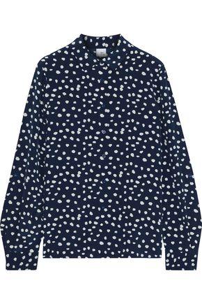 IRIS & INK Marith printed silk crepe de chine shirt