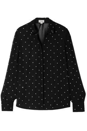 TEMPERLEY LONDON Twinkle crinkle-embellished georgette blouse