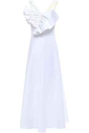 ANNA OCTOBER Ruffled stretch-cotton maxi dress