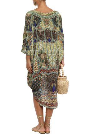 CAMILLA Echos of Enchantment crystal-embellished silk dress