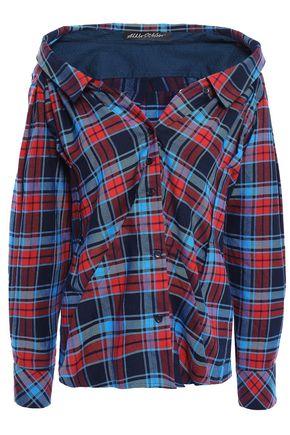 ANNA OCTOBER Off-the-shoulder cotton-flannel shirt
