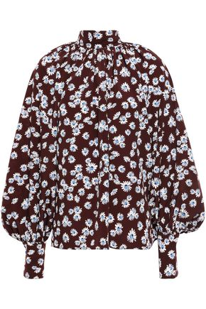 ANNA OCTOBER Floral-print crepe blouse