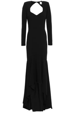 REBECCA VALLANCE Delilah open-back stretch-crepe gown