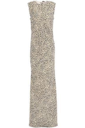 REBECCA VALLANCE Anya leopard-print woven maxi dress