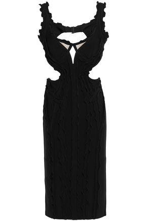 HERVÉ LÉGER Nakita ruffle-trimmed cutout bandage dress
