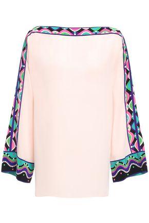 EMILIO PUCCI Printed silk crepe de chine blouse