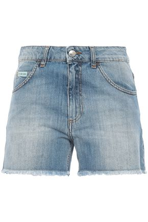 ALEXACHUNG Frayed denim shorts