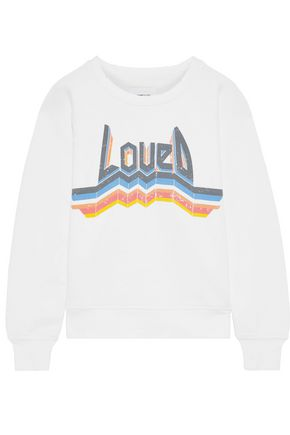 CURRENT/ELLIOTT The Bosun printed French cotton-terry sweatshirt
