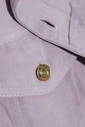 CURRENT/ELLIOTT The Charleville belted suede shirt