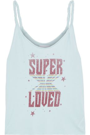 CURRENT/ELLIOTT The Twisted printed cotton-jersey tank