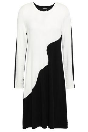 DKNY Two-tone intarsia-knit dress
