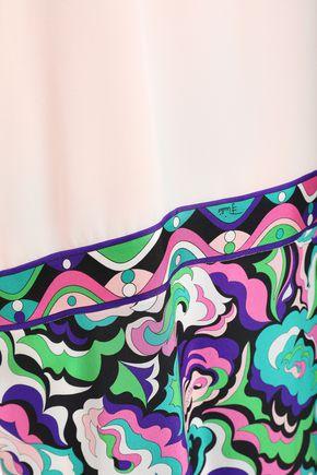 EMILIO PUCCI Printed silk crepe de chine mini dress